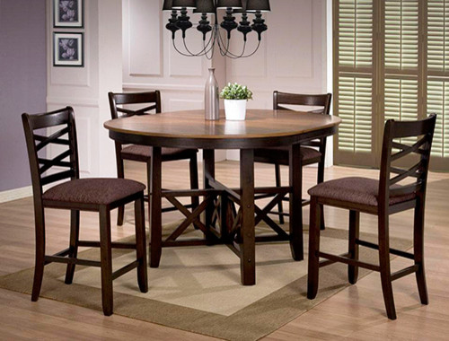 Counter Height Table Uk : Round Counter Height Table in Walnut - Contemporary - Dining Tables ...