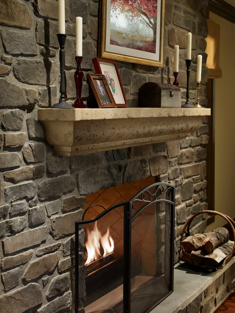 Rustic Fireplace Mantel Shelves The