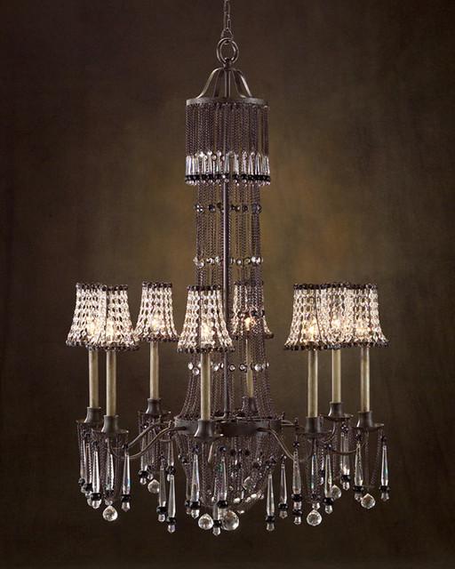 john richard 8 light chandelier ajc 8617 contemporary. Black Bedroom Furniture Sets. Home Design Ideas
