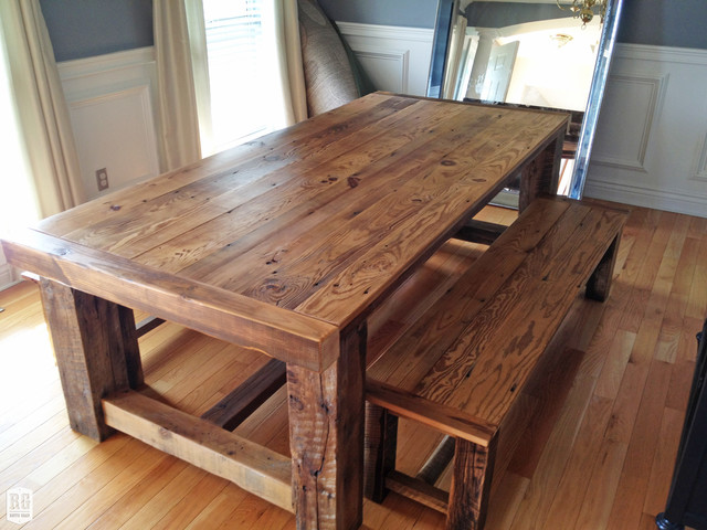 Rustic extension table for Farmhouse dining table