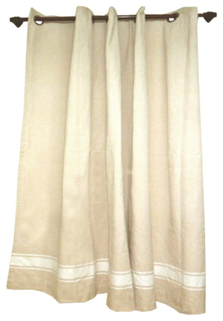 Shower Curtain Cream Traditional Shower Curtains