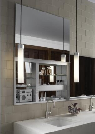 Robern Uplift Mirrored Medicine Cabinet Modern Bathroom Mirrors Other Metro By Quality Bath