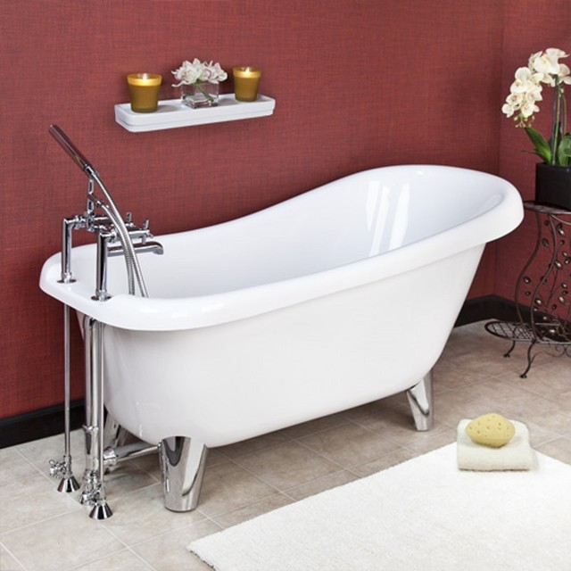 Modern clawfoot tub remodel bathtubs other by new for Modern claw foot tub