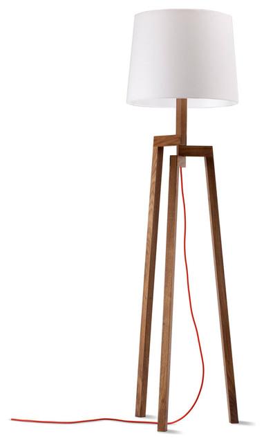 Blu Dot Stilt Floor Lamp, Walnut - Modern - Floor Lamps ...