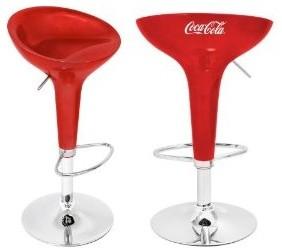 Coca Cola Scooper Bar Stool