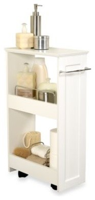 Slim-Line Organizer Storage Unit - Contemporary - Bathroom Cabinets And Shelves - by Bed Bath ...