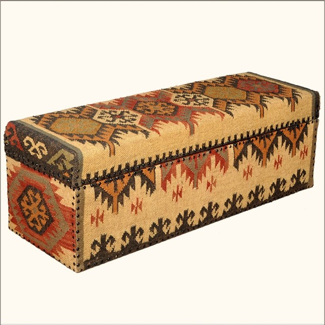 Native American Blanket Mango Wood Amp Fabric Coffee Table