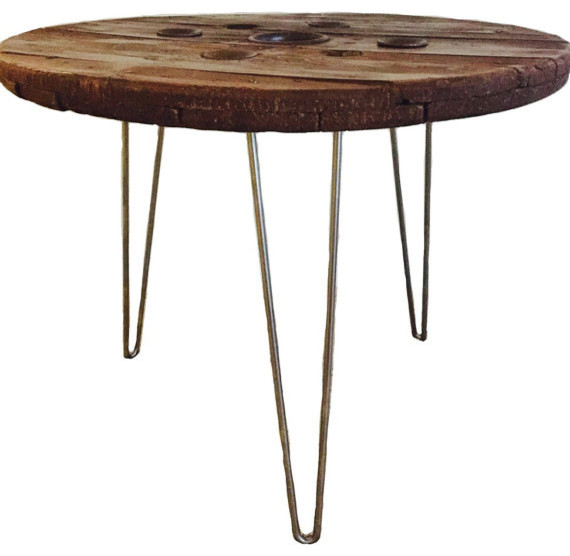 Spool Side Table 30quot Rustic Side Tables And End Tables : rustic side tables and end tables from www.houzz.com size 570 x 556 jpeg 42kB