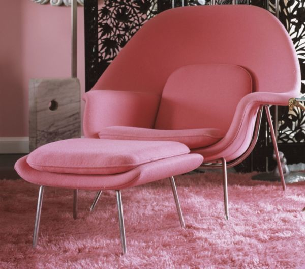 Pink Womb Chair Midcentury Armchairs And Accent Chairs