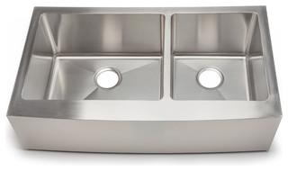 Hahn chef series handmade double bowl farmhouse sink extra large farmhouse kitchen sinks - Extra large farmhouse sink ...