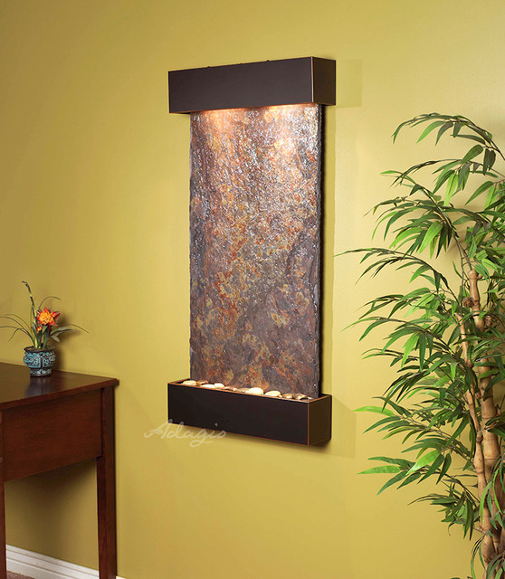 Slate wall mounted water features the the whispering - Wall mounted water feature ...