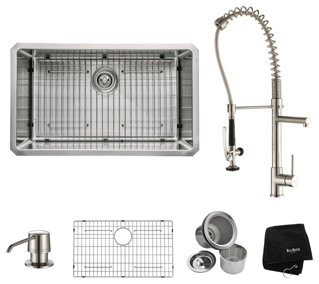 Stainless Steel Sink Table Combo : ... Stainless Steel Kitchen Sink Combo - Contemporary - Kitchen Sinks - by