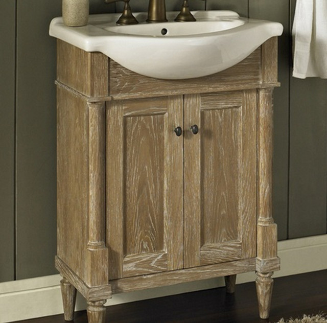 "Rustic Bathroom Vanity Set: Fairmont Rustic Chic 26"" Vanity And Sink Set"