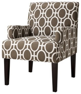 Dolce Upholstered Accent Arm Chair, Trellis - Contemporary - Armchairs And Accent Chairs - by Target