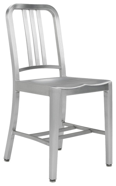 Army brushed aluminum chair modern dining chairs for Modern dining chairs toronto