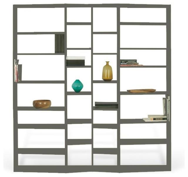 Temahome Valsa 28 Casiers Biblioth Que Tag Re Design Laqu E Gris Mat Contemporain