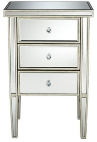 Gallery For gt Mirrored Nightstand