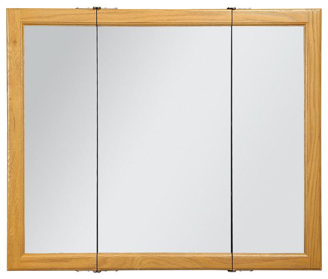 "Claremont 36"" Tri- Medicine Cabinet Honey Oak Finish ..."