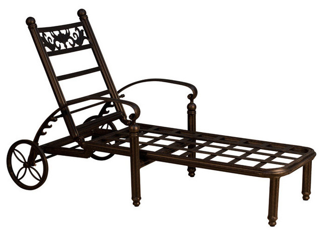 Barcelona single chaise lounge frame only traditional for Barcelona chaise longue