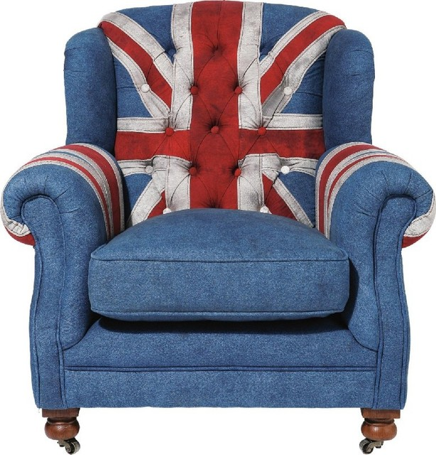 Sessel grandfather union jack contemporary armchairs for Sessel union jack