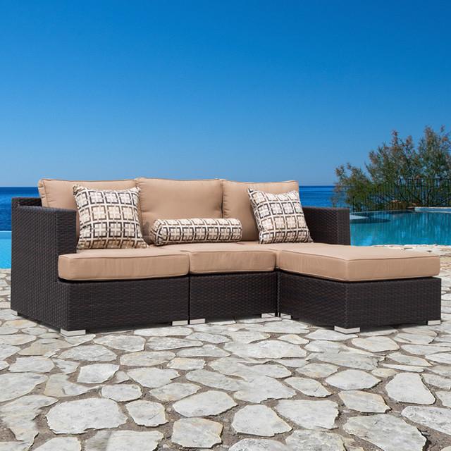 sirio morgan 4 piece modular outdoor sofa set