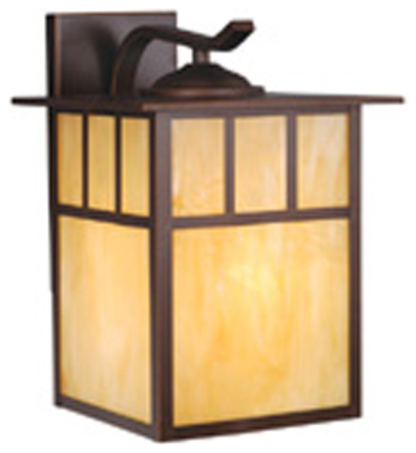 Transitional Outdoor Wall Lights : Vaxcel OW37293BBZ Mission 10