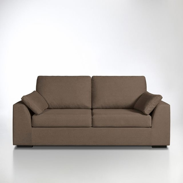 Canap convertible madison bultex coton lin contemporain canap lit co - Canape convertible lin ...