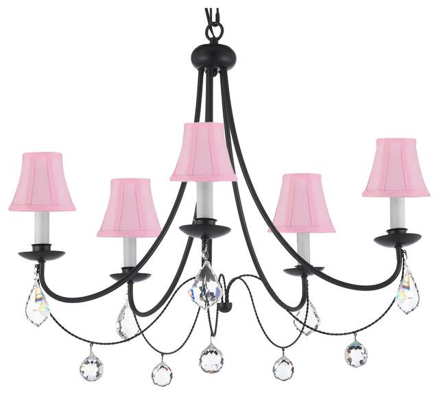 Shop Houzz Gallery Lighting Empress Crystal Wrought Iron Chandelier Chandeliers