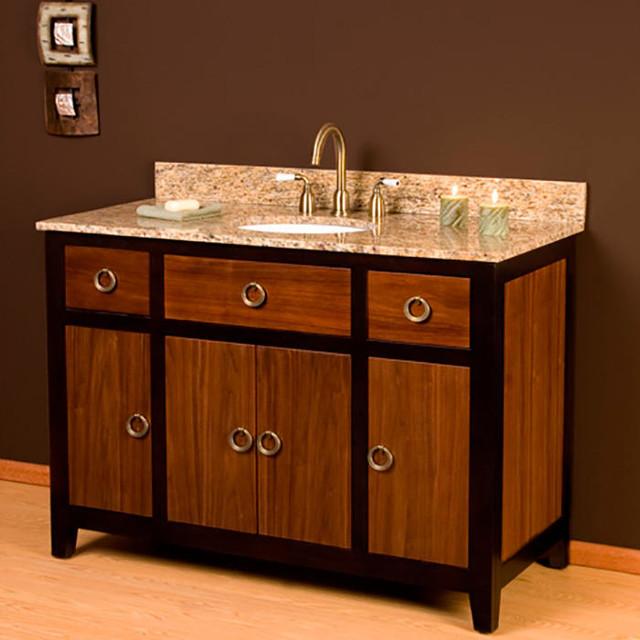 "Contemporary Urban Bath Vanity Light: 48"" Urban Walnut Vanity For Undermount Sink Modern-bathroom-vanities-and-sink-consoles"