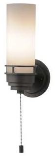 Wall Sconce With Rotary Switch : Contemporary Single-Light Sconce with Pull-Chain Switch - 203-78 - Transitional - Wall Sconces ...