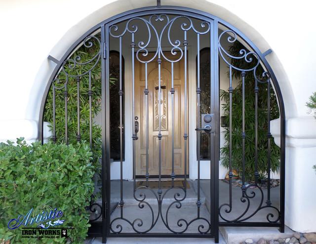 Fascinating Wrought Iron Security Gate Front Door Ideas   Best .