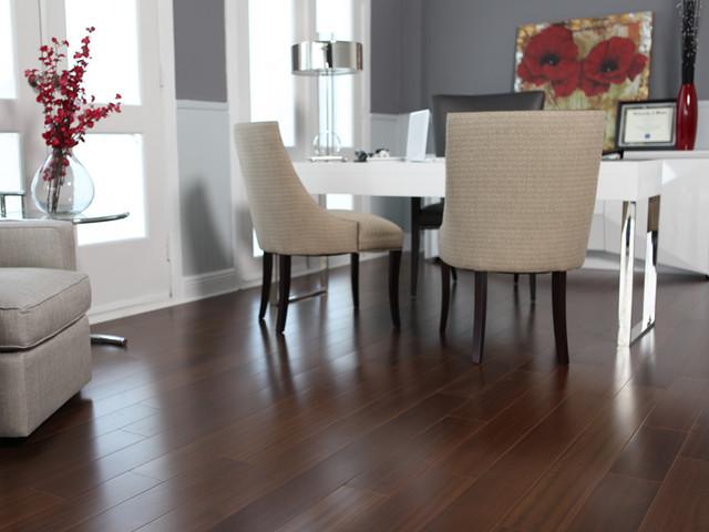 Modern Wood Floors exellent dark engineered wood flooring partially installed