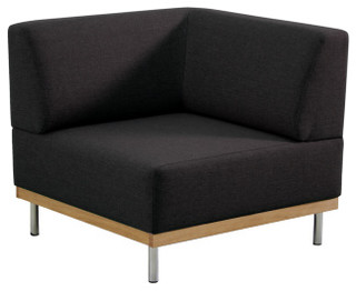 Fifties chauffeuse d 39 angle en tissu moderne fauteuil - Chauffeuse d angle convertible ...