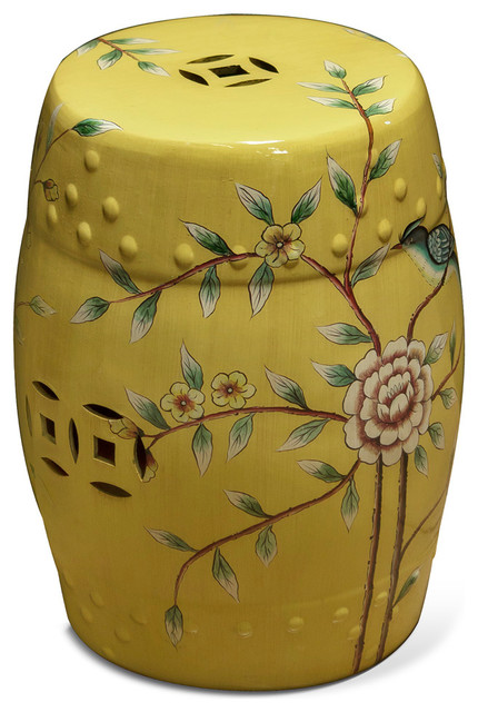 Porcelain garden stool asian accent garden stools for Asian furniture westmont il