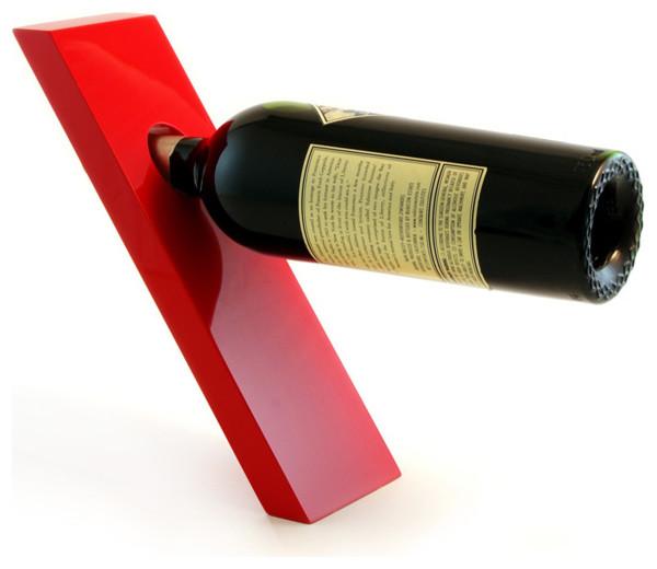 Wine Plank Bottle Holder Red Contemporary Wine Racks