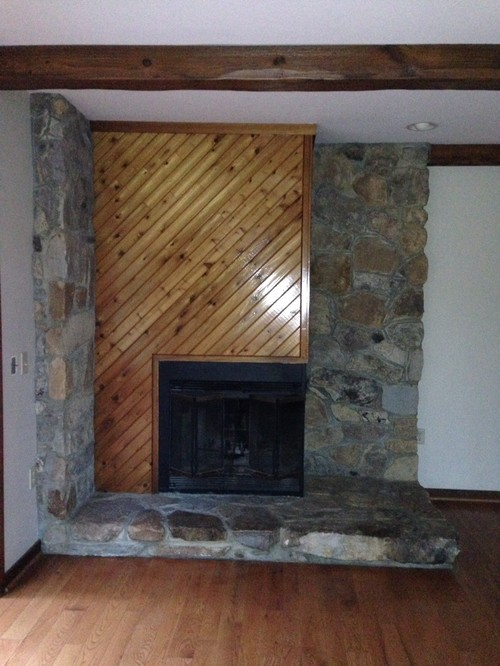 Asymmetrical Fireplace Needs An Update