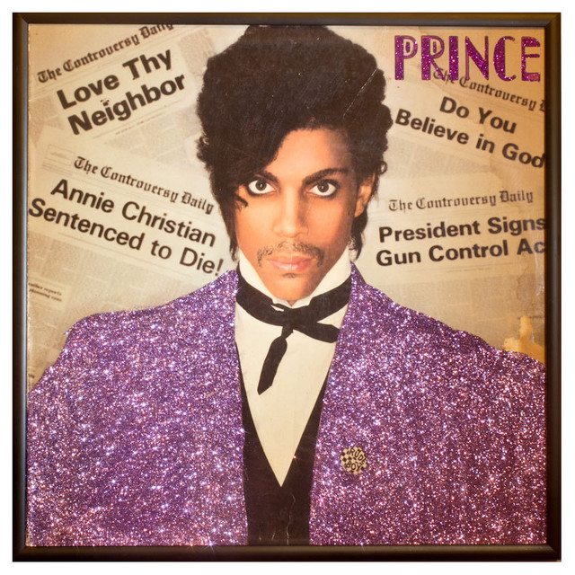 Glittered Prince Controversy Album Contemporary Artwork By Mmm Designs