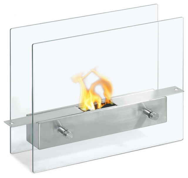 Tab Double Sided Ventless Ethanol Fireplace Modern Tabletop Fireplaces By The Elite Home