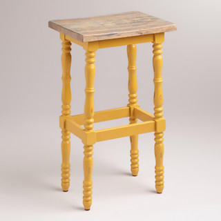 Yellow Penelope Spindle Stool Classico Sgabelli Da Bar