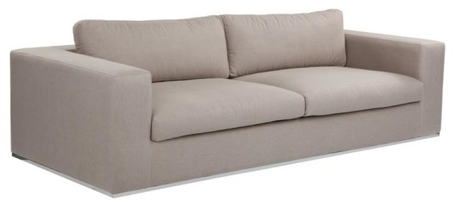 Contemporary Low Profile Fabric Sofa Marino Taupe Contemporary Sofas By Artefac