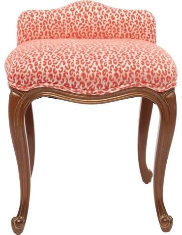 pink cheetah boudoir stool modern furniture by h h ForBoudoir Stoel