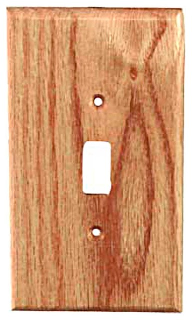 Traditional toggle red oak rustic switch plates