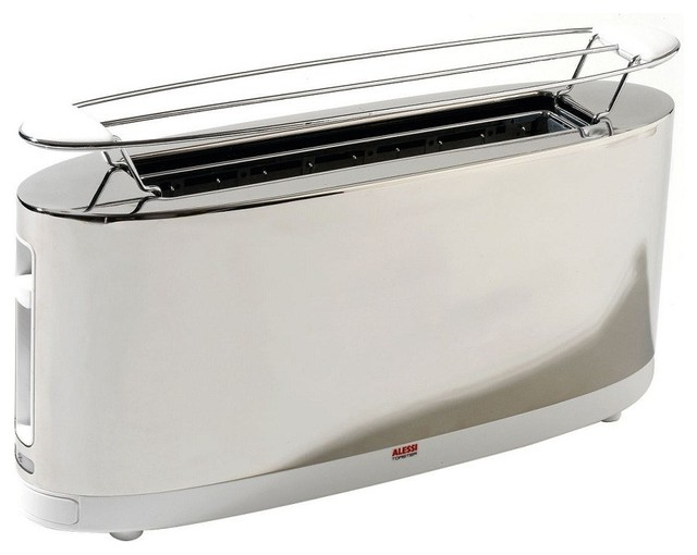 Alessi Toaster With Bun Warmer Contemporary Toasters