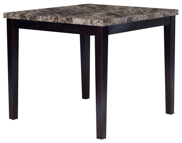Contemporary 42 x 42 inch counter height dining table with for Dining room table 42 x 60