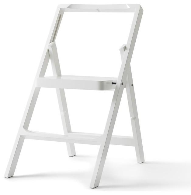 step mini leiter bauhaus look leitern tritthocker. Black Bedroom Furniture Sets. Home Design Ideas