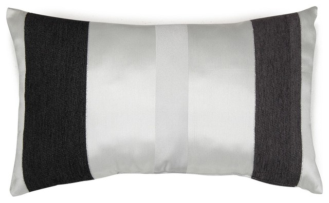 Edimbourg coussin rectangulaire 30x50cm blanc for Plaid contemporain