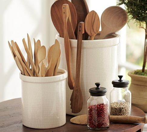 Rhodes kitchen crock modern utensil holders and racks for Modern kitchen utensil