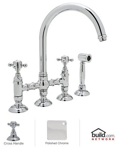 Rohl A1461XMWS-2 Country Kitchen High-Arc Bridge Faucet