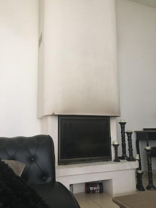 accrocher un miroir sur ma chemin e. Black Bedroom Furniture Sets. Home Design Ideas