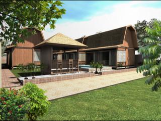 Villa and bungalow for Bungalow con cantina sciopero